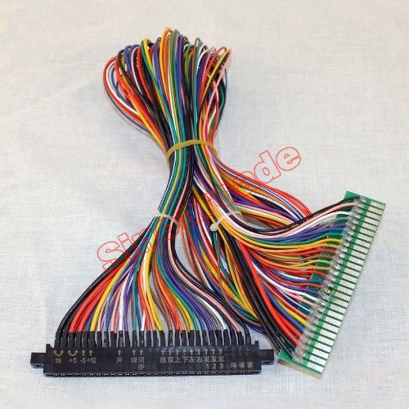 Full 56 pin 100cm Jamma Extender harness for arcade game board JAMMA Cabinet Wire Wiring Harness Loom Arcade PCB Board
