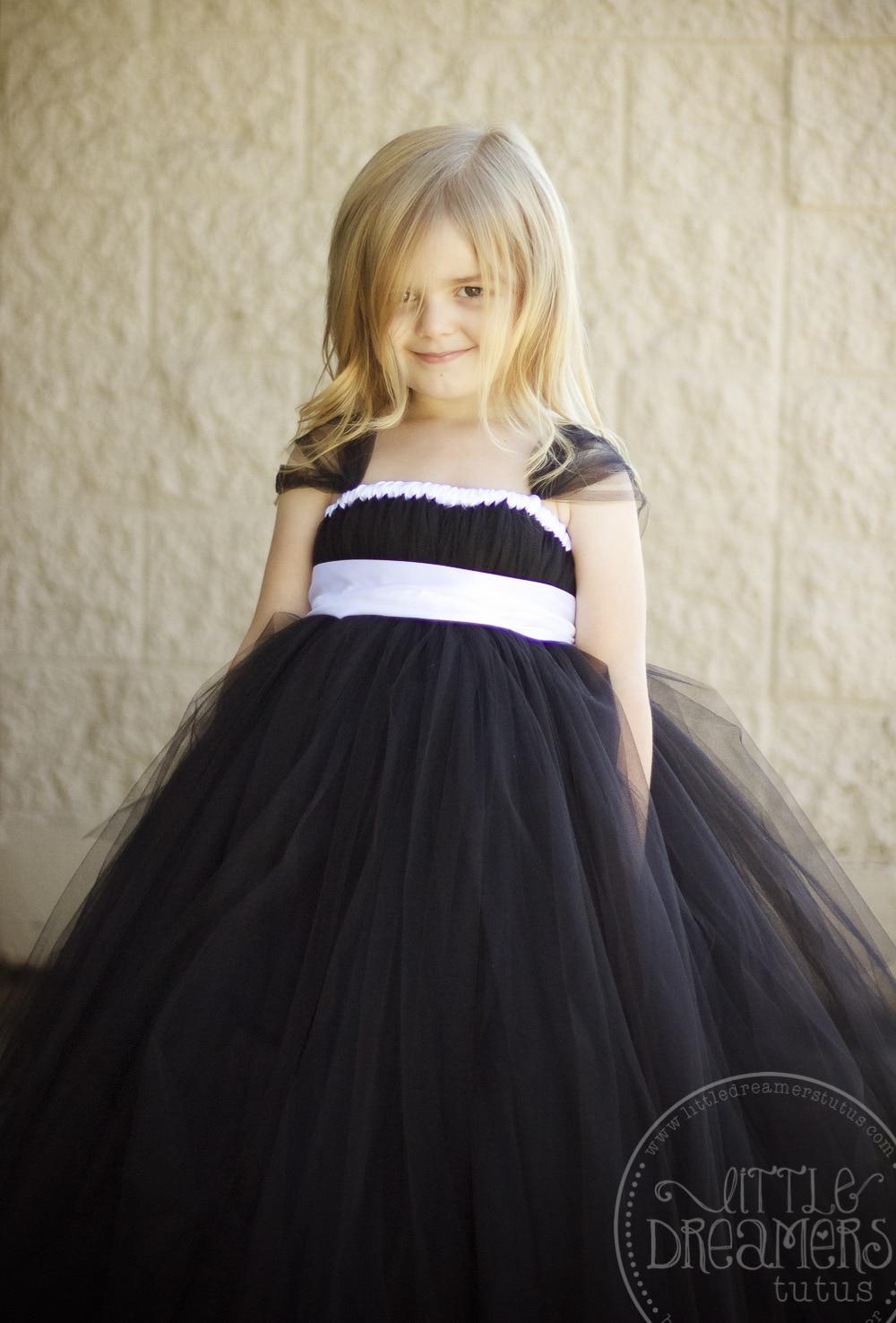 Long Black Tutu Dress