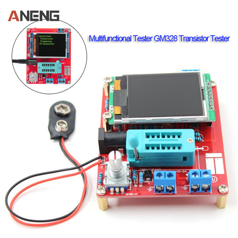 Multifunctional Tester GM328 Transistor Tester Resistance Inductance Capacitance Meter ESR Instrument DIY Kit rt 219g transistor tester graphics display resistance inductance two or three pole tube capacitance esr meter