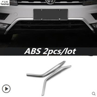 ABS 2pcs/lot Front Bottom Bumper Molding racing grill trim accessories car styling for 2016 2017 2018 Volkswagen VW Tiguan mk2