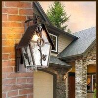 Lâmpadas ao ar livre lâmpada de parede lâmpada de parede do quarto villa jardim ao ar livre do diodo emissor de luz bar coffeshop arandela luzes do estúdio da lâmpada para leitura de livros iluminaçao parede varanda