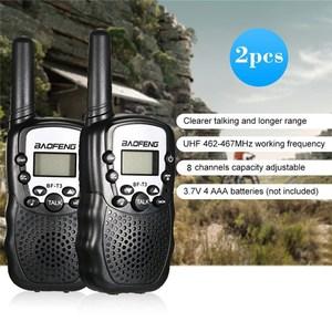 Image 2 - 2 sztuk Baofeng BF T3 Mini dzieci Walkie Talkie Way CB Ham Radio UHF stacja Transceiver Boafeng PMR 446 PMR446 skaner przenośny