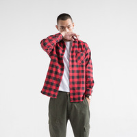 Men Flannel Plaid Male Shirt 100 Cotton 2017 Spring Autumn Casual Long Sleeve Shirt Soft Slim