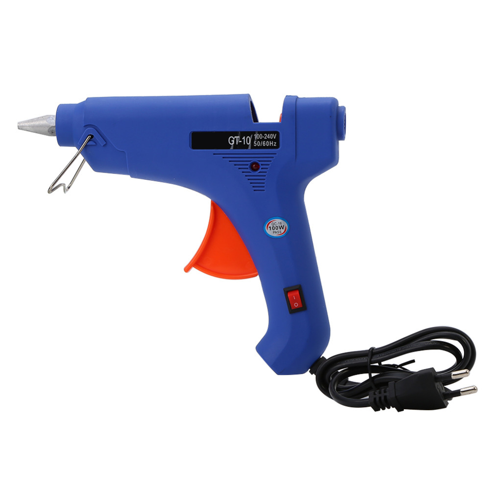 100W Hot Melt Glue Gun AC 100V-240V Constant Temperature Glue Gun Craft Repairing Tools With Switch US/ EU Plug Optional