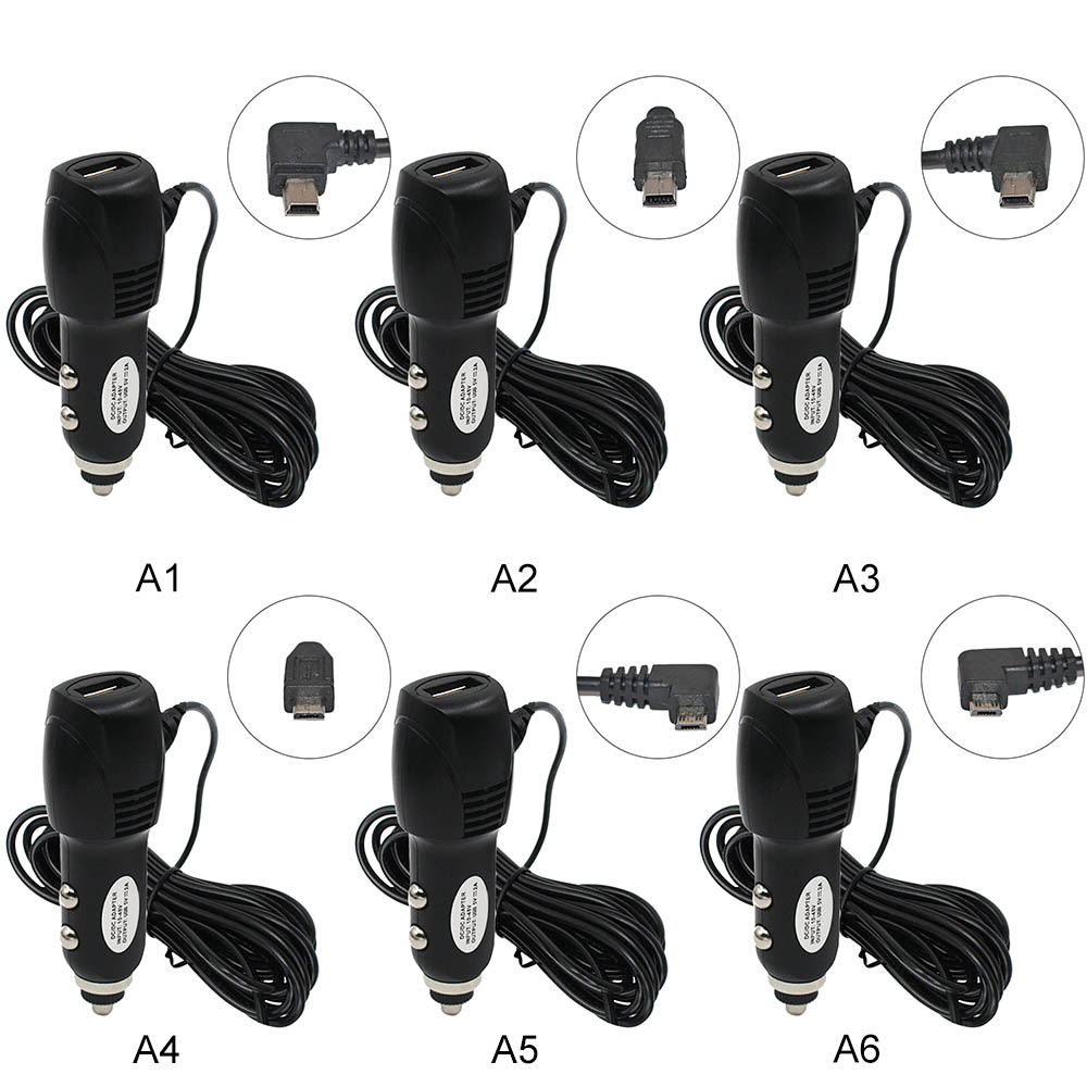 5V 2A Car Charger Dash Cam Driving Recorder Rear-view Mirror Recording DVR Car Charger for IOS Android Cellphones