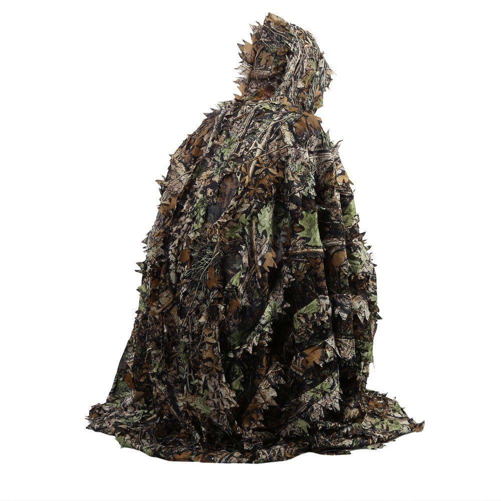 Sportbekleidung Ordentlich Jagd Kleidung 3d Verlässt Camouflage Geely Anzug Maple Leaf Angeln Jagd Kleidung Windjacke Bionic Blätter Kleid Ghillie Anzüge