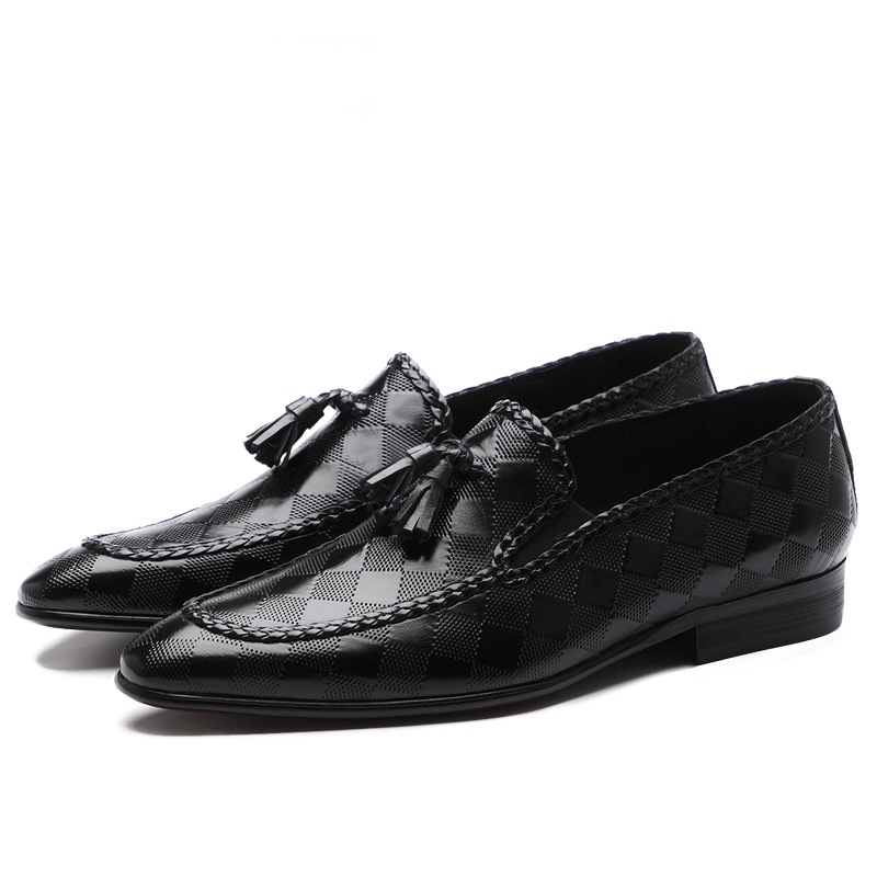 QYFCIOUFU 2019 Tassel Mens Dress Shoes Luxury Italian Style Fashion Mens Formal Shoes Mens Trend Genuine Leather Shoes US 11 5 in Formal Shoes from Shoes
