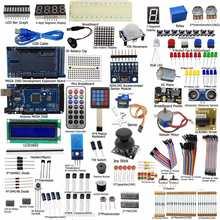הגעה חדשה DIY יחידה חשמלית אולטימטיבי Starter Kit לarduino מגה 2560 1602 LCD סרוו מנוע LED אלקטרוני ממסר RTC ערכת