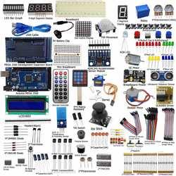 Nueva llegada de la unidad eléctrica arranque definitivo Kit para Arduino MEGA 2560 LCD 1602 Servo LED de motor de RTC kit electrónico