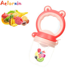 Chupeta Frog Head Baby Pacifier Safety Silicone Food Fruit Vegetable Bite Bag Eat Nipples Bottle