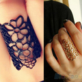 Fashion Jewelry Women Men Hollow out Flower Alloy Opening Ring Black and Golden 1NC3