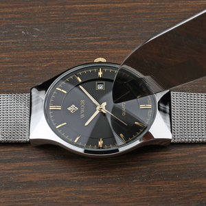 Image 3 - WWOOR 2019 גברים של שעונים למעלה מותג יוקרה אופנה אולטרה דק גבר שעון ספורט עמיד למים עסקי שעוני יד גברים שעונים 2018