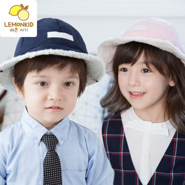 winter hats baby bucket hat warm cutton caps earflaps jacquard weave hat  children hats Free shipping 53cd1461300