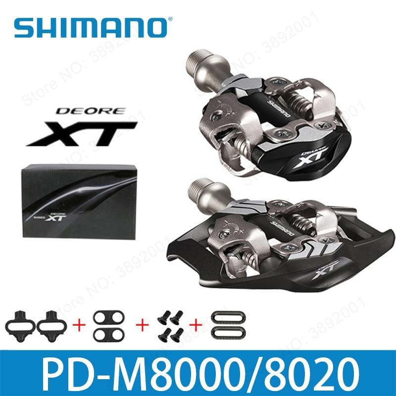 цена Shimano Deore XT PD-M8000 M8020 Self-Locking SPD Pedal MTB Components for Bicycle Racing Mountain Bike Parts PD M8000 edals онлайн в 2017 году