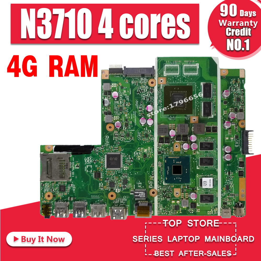 X541SC N3710 CPU 4GB RAM N15V GL1 KB A2 mainboard REV 2.0 For ASUS X541S X541SC laptop motherboard 90NB0C10 R00010