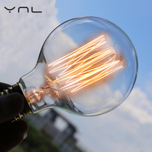 YNL E27 220V 40W G80 Edison bulb Incandescent fiament bulb lighting lamp retro Edison ampoule vintage