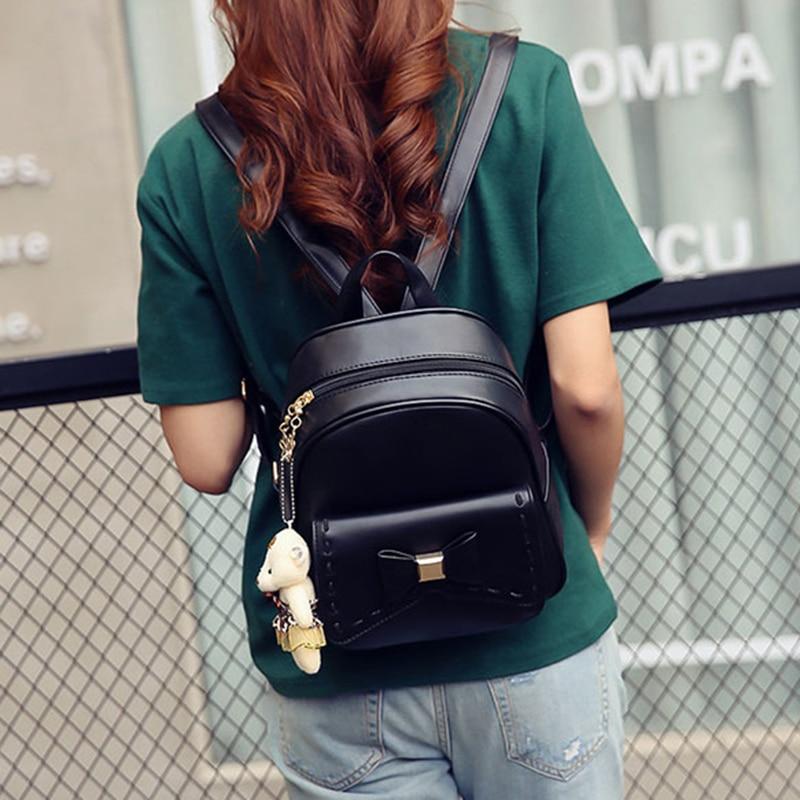 3pcs/Set Composite Bag Female Backpacks Leather School Bags For Teenage Girls PU Women Backpack Shoulder Bag Purse