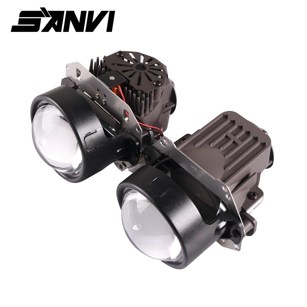Sanvi X1 35W 5000K Bi LED Projector Lens Headlight 12V Hi/Low Beam LHD&RHD LED Headlight H4 H7 9006 Auto Light Retrofit Kits