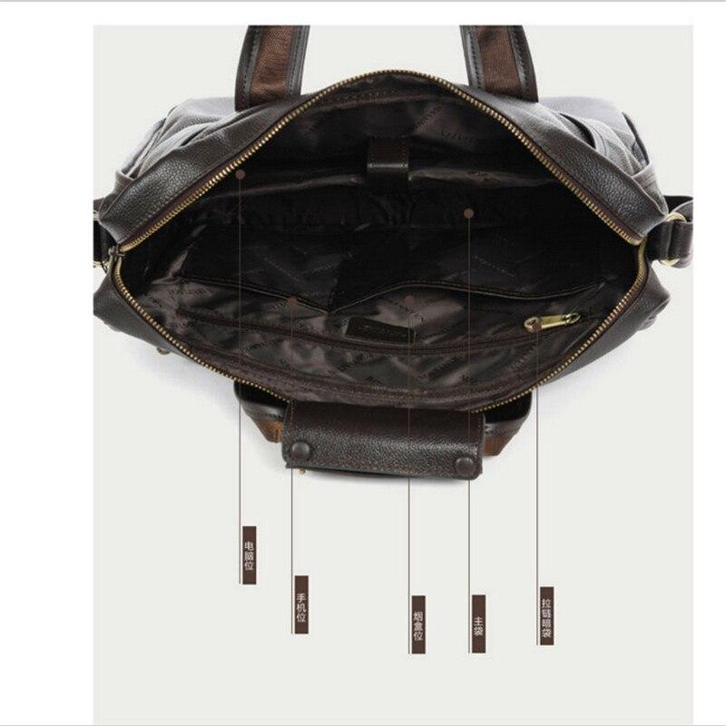 100% genuÍno couro de couro Tipo de Ítem : Messenger Bags