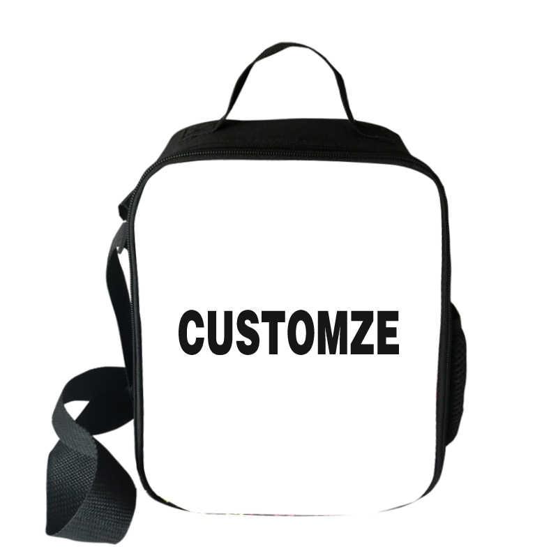 Жираф/панда/Meerkat печатающая головка портативная Термосумка для обедов Изолированная Холщовая Сумка для обедов Tote охлаждающая сумка пищевые сумки для пикника