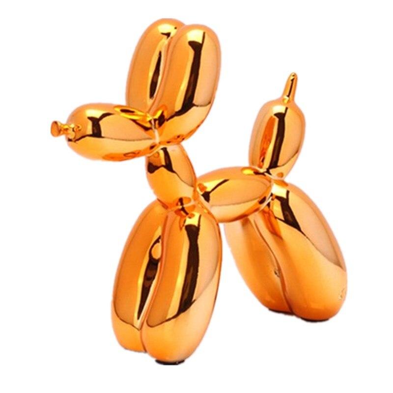 Art américain résine artisanat Jeff Koons ballons chien Figurine Statue placage ballon chien décorations pour la maison saint valentin cadeau R396