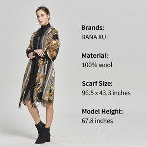 Image 4 - DANA XU ผู้หญิงแฟชั่นฤดูหนาวผ้าพันคอลายสก๊อตหนา Poncho เสื้อกันหนาว CASHMERE Pashmina ผ้าพันคอผ้าคลุมไหล่ขนาดใหญ่ผ้าห่ม