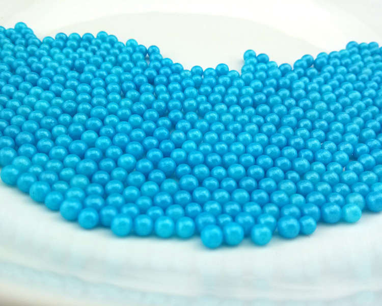 Cake accessories Baking material decorative blue pearl ...