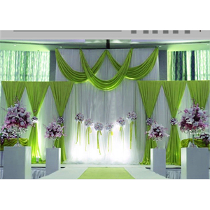 Image 4 - 1 סט רקע שלב וילון פנינה קרח משי בד וילונות DIY כיסוי רעלה לחתונה מסיבת מכירה לוהטת