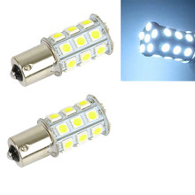 10PCS 5050 6000K White 1156 BA15S RV Trailer Interior 12V  27 SMD LED Lights Bulbs