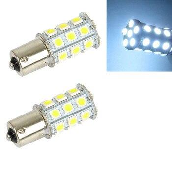 цена на 1156 27 LED Car LED Light Bulb 12V White 6000K Ba15s 5050 Smd Auto Turn Signal Bulbs Parking Lamp Tail Lights Universal Lamps