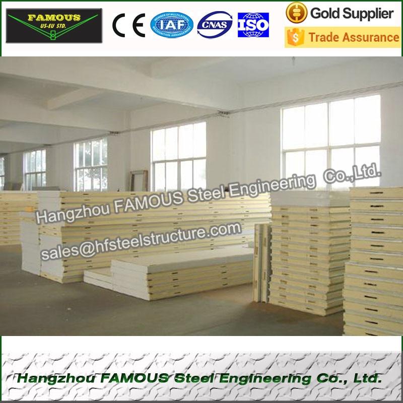 Polyurethane Freezer Pu Cold Room Panel For Refrigeration Unit 100mm