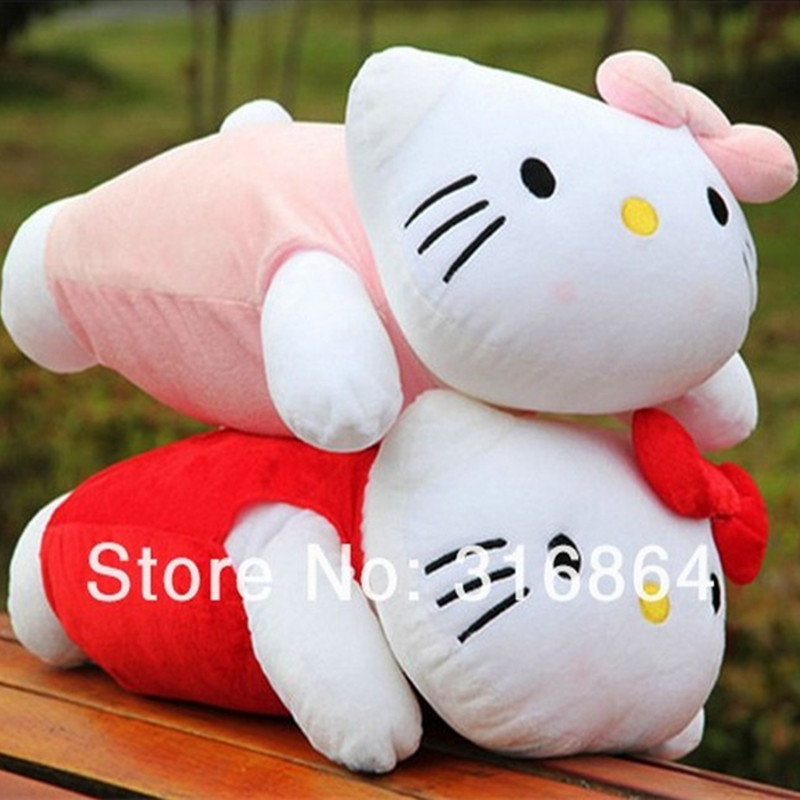 50cm Hello kitty Plush Pillow Soft Stuffed Toy Kitty Finished Christmas Gift