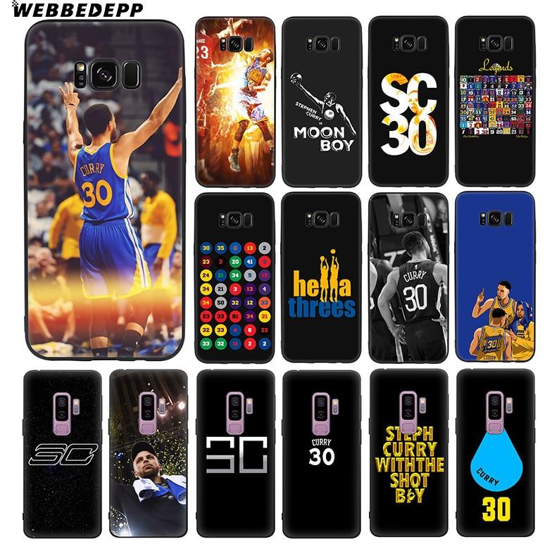 WEBBEDEPP Stephen Curry 30 Soft TPU Silicone Case for Samsung Galaxy S10 S10e S9 S8 Plus S7 S6 Edge & J6 Phone Case