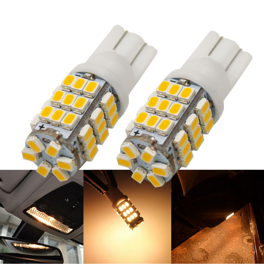 6PCS/Lot T10/921/194 Warm White RV Trailer 42-SMD 12V Backup Reverse LED Lights Bulbs 4300K