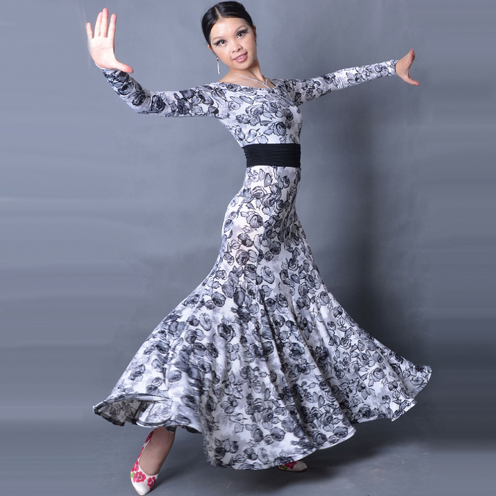 2018 New Ballroom Dance Dress Women Escapulario Flamenco Skirt Vestidos De Festas Vestidos De Baile De Salon FREE CUSTOM SIZE цена