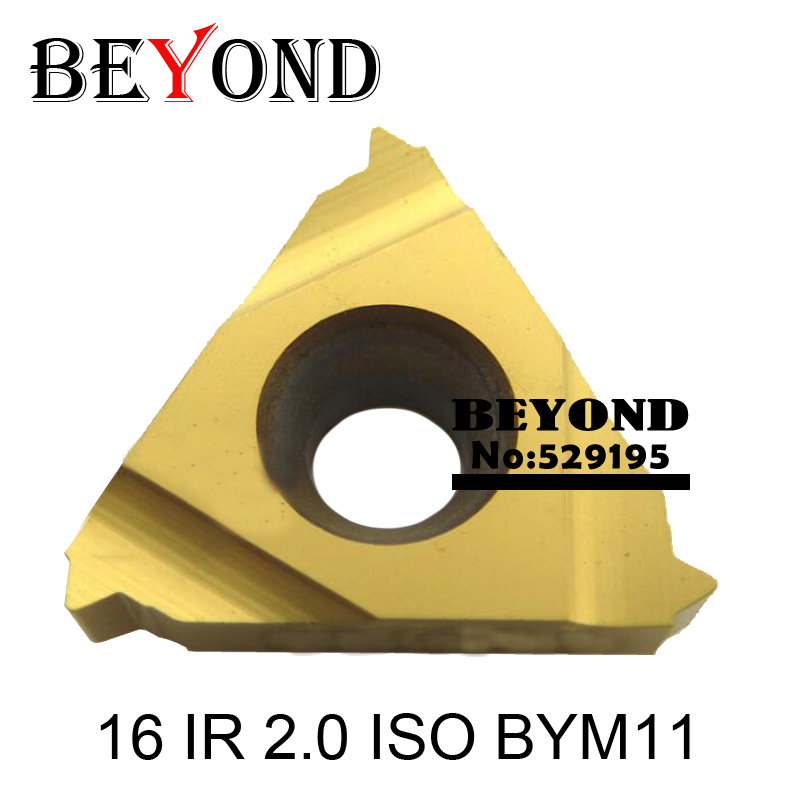 16 IR 2.0 ISO BYM11,Indexable Tungsten Carbide Threading Lathe Inserts For Threaded Lathe Holder,thread Turning Tool Holders