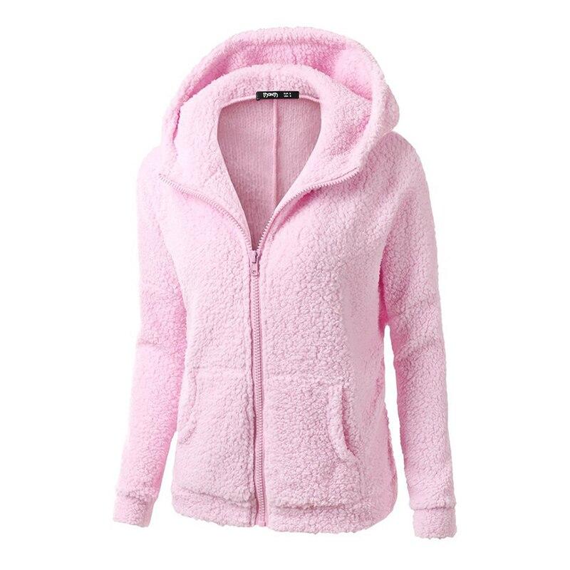 Bigsweety Hot Sale Women Fleece Hoodies Winter Warm Hooded Long Sleeve Zipper Thicken Coat Outwear Sudaderas Jacket Sweatshirts