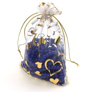 Image 4 - 100 шт., 15x20 см, 17x23 см, 20x30, золотой цвет, любовь, сердце, роза, конфеты, подарок, рождественские сумки, украшения, упаковка
