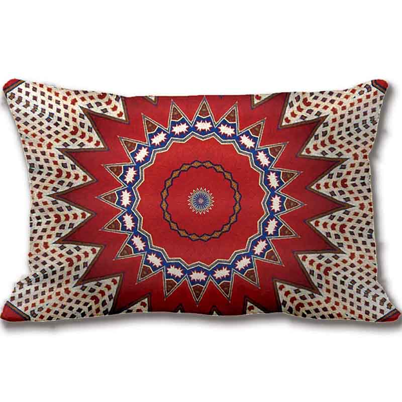 tribal southwest santa fe pattern red throw pillow decorative cushion cover pillow case customize gift by - Red Decorative Pillows