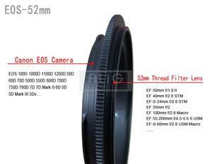 Image 2 - РЕВЕРСИВНОЕ кольцо адаптер для макрообъектива камеры 49 мм 52 мм 55 мм 58 мм 62 мм 67 мм 72 мм 77 мм фильтр Резьбовое крепление объектива для камеры Canon DSLR