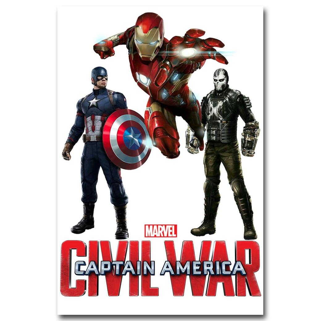Captain America Civil War Marvel Iron Man Art Silk Poster 12x18 24x36