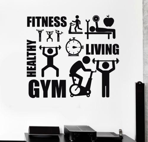 Us 120 20 Offstiker Dinding Hidup Sehat Binaraga Fitness Gym Latihan Olahraga Motivasi Poster Dinding Decals Untuk Kamar Anak Anak Mural In Wall