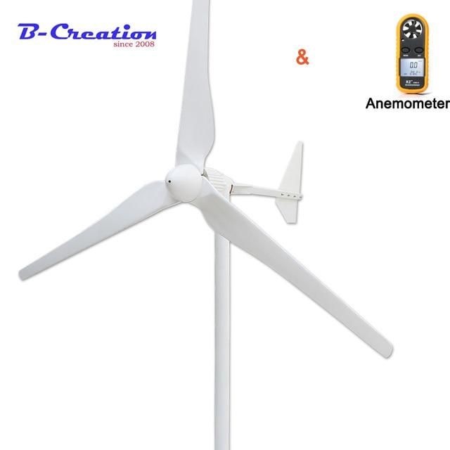 2000 w กังหันลมเครื่องกำเนิดไฟฟ้า turbine 48 v/96 v/120 v/220 v/380 v สนับสนุนการปรับแต่งบ้าน, 3 ใบมีด, รับประกันฟาร์ม