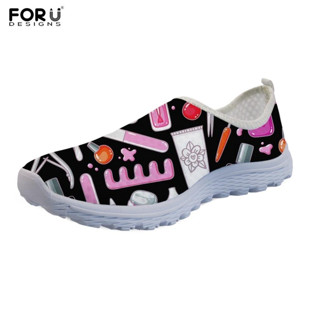 FORUDESIGNS Shoes Brand Walking-Sneakers Air-Mesh Women Female Breathable Casual Custom