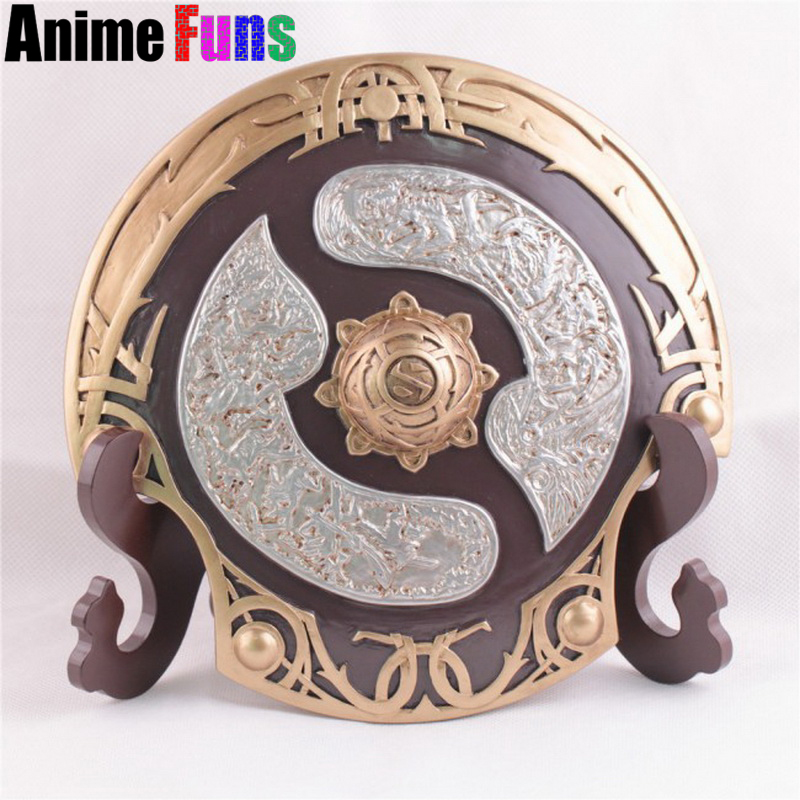 20*20cm Game Dota 2 Aegis of Champions Aegis Fiugres Model Stand Gift Collection New in Box Resin handcraft Charm Gift drop-ship цена