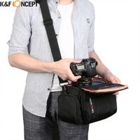 K F Concept Exclusive Design High Density Nylon Waterproof Camera Bag Lens Case Shoulder Bag And