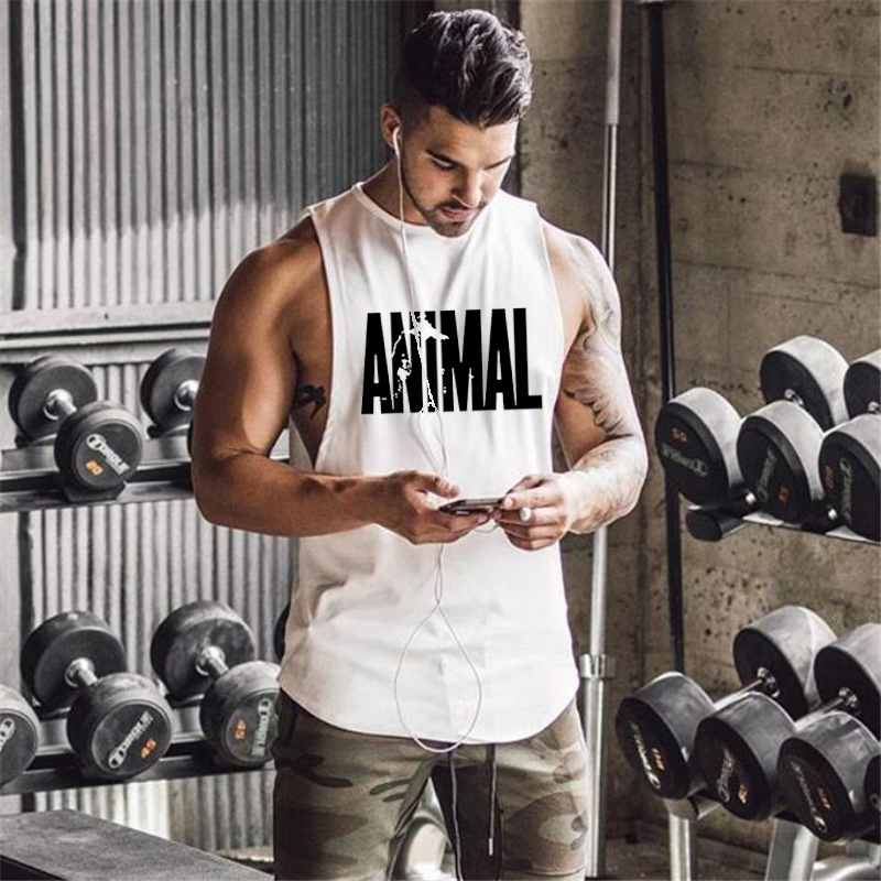 Brand 2018 New   Tank     Top   Fitness Men Sleeveless Shirt Clothing Bodybuilding Stringer Breathable Casual Muscle   Tank     Tops   Jersey