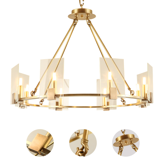 All Copper Small Pendant Nordic Art Bed Lamp Shade Contemporary Contracted Restaurant Balcony Droplight