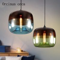 Nordic chandelier creative personality galvanized glass restaurant post modern minimalist bar clothing store coffee shop lamps