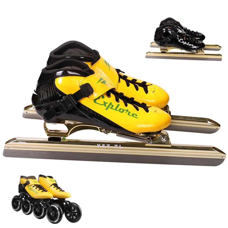 Skate-schuhe Eis Skate Tricks Schuhe Erwachsene Kind Eis Klinge Skates Professionelle Geschwindigkeit Eis Skate Patines Super Mikrofaser Eis Klinge Skifahren Id09 Rollschuhe, Skateboards Und Roller